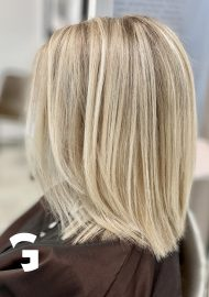 Be blonde with a light blond balayage but keep some contrast
