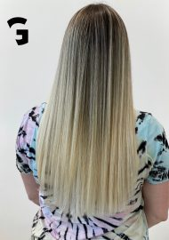 blond balayage highlight and color smudge