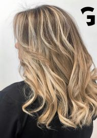 golden blonde balayage for the summer