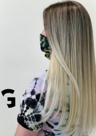 perfectly blended balayage and shadow roots